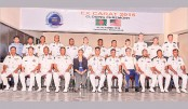 Participants of Bangladesh and US Navy joint exercise