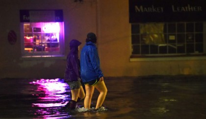 Streets submerged after heavy rain batters US southeast