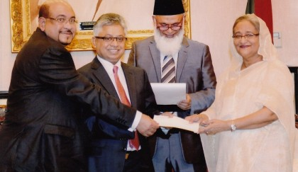 NRB Global Bank Limited donated for PM's relief Fund