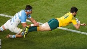 Australia win Rugby World Cup semi but Argentina exit in style