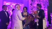 Harbhajan Singh, Geeta Basra's grand reception