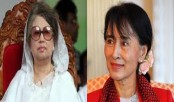 Khaleda greets Suu Kyi for the historic victory