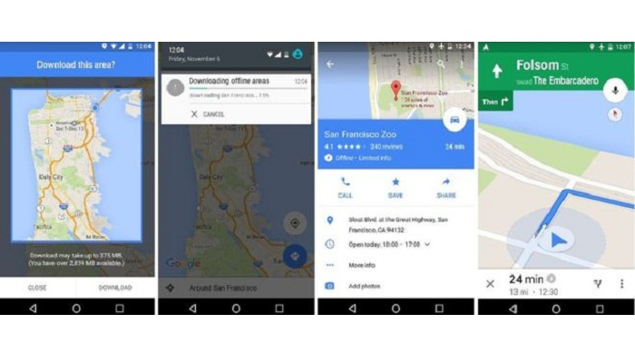 Google maps gets offline search and directions 2015 11 10 daily google maps gets offline search and directions gumiabroncs Gallery