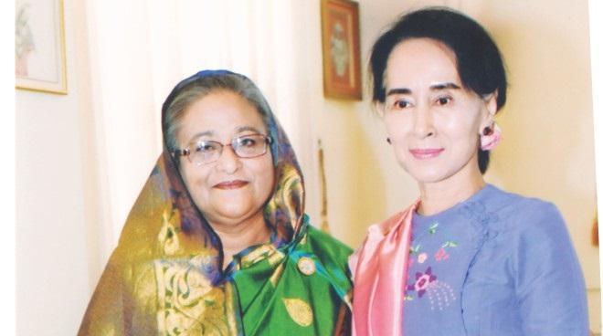 PM congratulates Suu Kyi over telephone