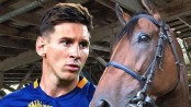 Messi, Usain Bolt...a horse!
