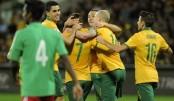 Australian Football Team in city