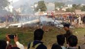 7 dead in helicopter crash in Indian Kashmir