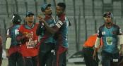 Al-Amin's hat-trick, Sylhet reeling chasing 109
