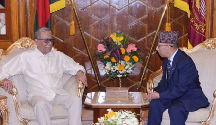 Nepalese ambassador makes farewell call on President