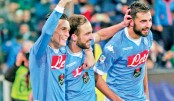 Higuain at the double as Napoli go top of Serie A