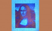 Microscopic Mona Lisa 10,000 times smaller than real one printed