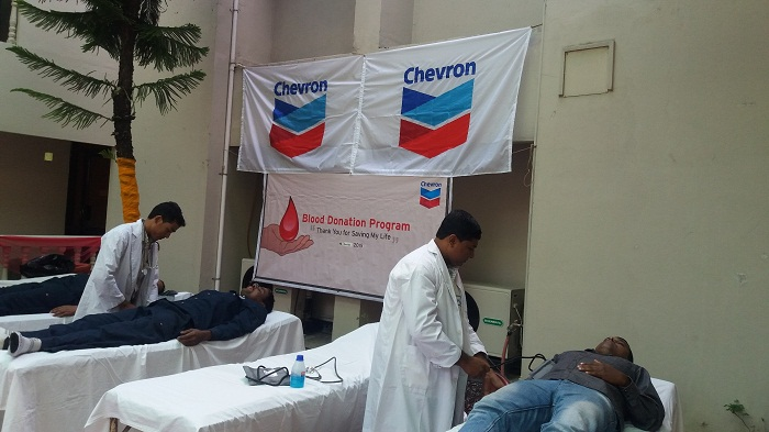 Chevron concludes second round of blood donation