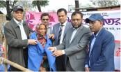 Union bank distributes blanket among wintry people
