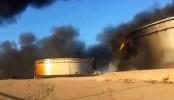 Libya oil storage tanks ablaze after assault by IS