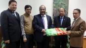 MTB presents winter blankets to Bangladesh Bank