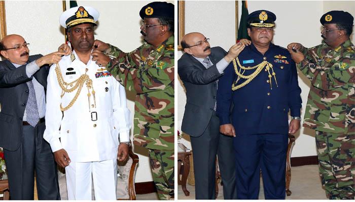 Navy, BAF chiefs' rank upgraded