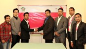 bKash inks deal with Grameen UNIQLO