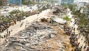 Illigal shops demolished by Rajuk for car parking
