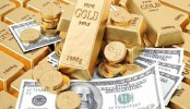 Gold up on weaker US equities