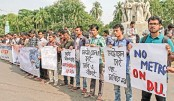 DU students submit memo to VC against metro rail route