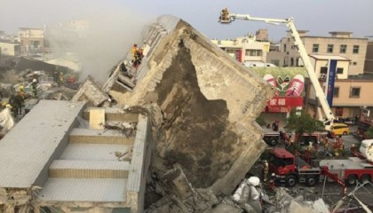 7 killed after 6.4-magnitude Taiwan earthquake topples buildings