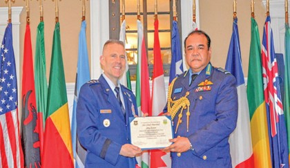 Air chief honoured with IHR in USA