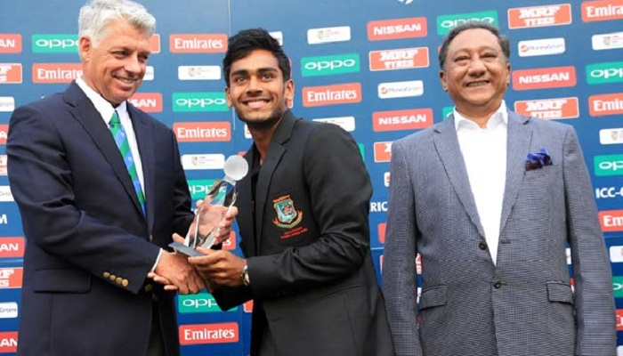 Miraz wins player of the tournament award