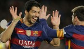 With trick play in penalty kick, Barcelona routs Celta 6-1