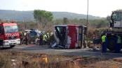 Spain student bus crash kills 13