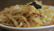 Stirfried Cabbage with Garlic and Bengali Spices