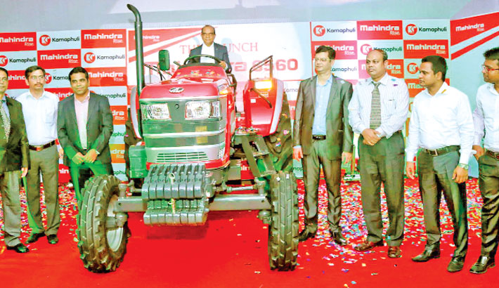 Mahindra tractor launched   2016-04-07   daily-sun com