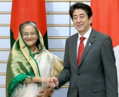 Hasina gets Invitaiton from Shinzo Abe to attend G-7 outreach meeting