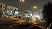 Saudi capital hit by rare flooding