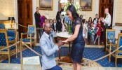 Refugee Turned Coast Guard Engineer Proposes to Girlfriend at the White House