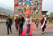 British royal couple trek to Bhutan's cliff-side monastery