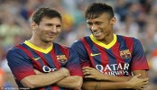 Barca boss want more from Messi, Neymar