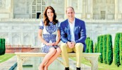Royal couple end India trip with Taj Mahal visit