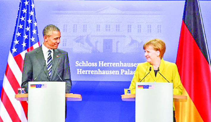 Obama, Merkel make case for huge US-EU trade deal