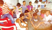 Police arrested 10 drug addicts
