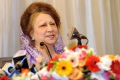 Khaleda joins the rally at Suhrawardy