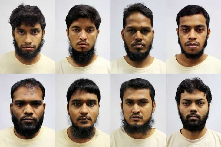 8 Bangladeshi men detained in Singapore for planning terror attacks back home