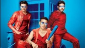Akshay, Abhishek, Riteish 'Housefull' in a car