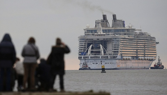 World's biggest cruise ship sets sail from France