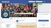 US Embassy Dhaka's Facebook page now has 3 million fans