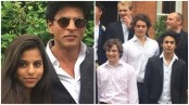 Shah Rukh Khan attends son Aryan's graduation day, with daughter Suhana