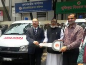 FF Foundation receives 2 ambulances from India