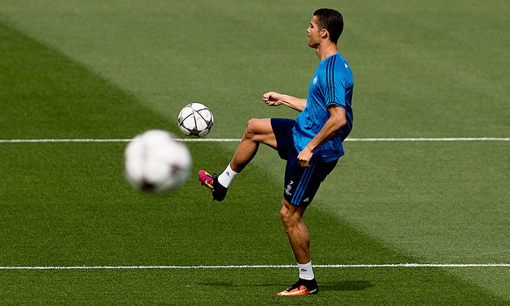 Ronaldo trains ahead of Champs League final