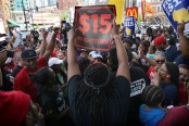 Protesters rally ahead of McDonald's shareholders' meeting