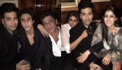 SRK, Aryan, Navya at Karan Johar's Birthday party  in London
