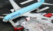 Korean Air plane catches fire on Tokyo runway